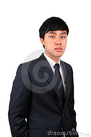 Young and confident Asian business man.