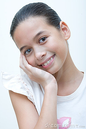 Young and confident young girl