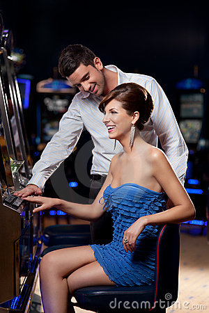 Free Young Couple At The Casino Stock Photography - 20365112