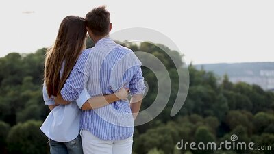 Young Couple On Beautiful Nature View stock video