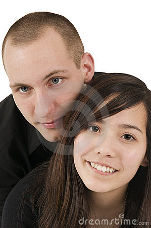Young couple in black