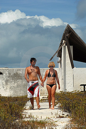 Young couple in Caribbean