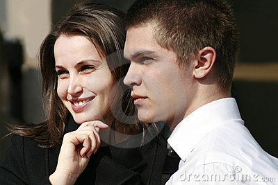 young couple close together