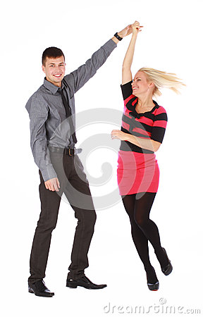 Young couple is dancing