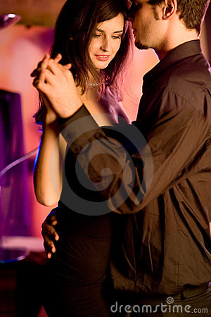 Free Young Couple Dancing At The Restaurant Stock Photos - 1669943