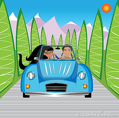 Young Couple Driving In Mountains Stock Images - Image: 11380004