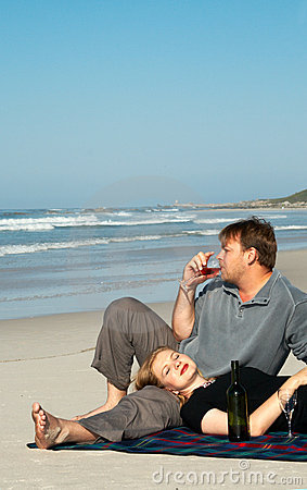 Free Young Couple Enjoying The Wine Royalty Free Stock Photo - 2440245
