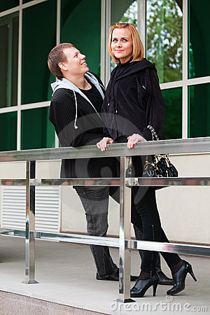 Free Young Couple Flirting Royalty Free Stock Images - 20945339