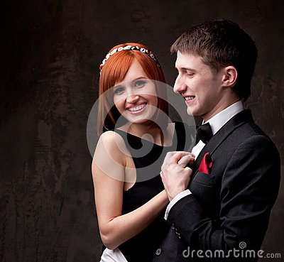 Young couple in formal dress