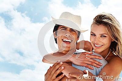 Young couple having fun