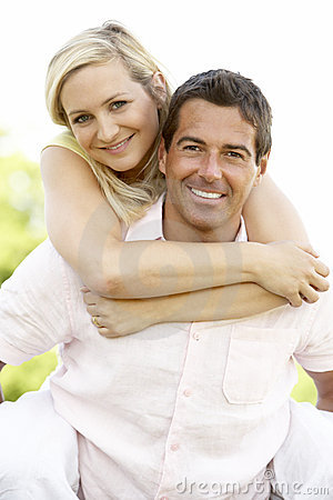 Free Young Couple Having Fun In Countryside Royalty Free Stock Photo - 10972095