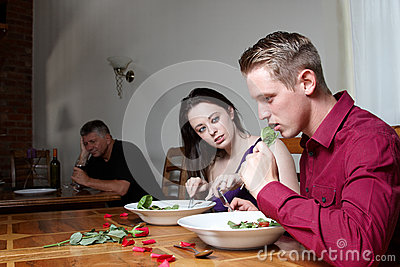 A Young Couple Having A Meal Together Stock Photography - Image: 25881292