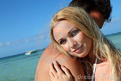 Young couple in holidays