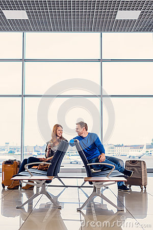 Free Young Couple In Waiting Hall Royalty Free Stock Photo - 79992415