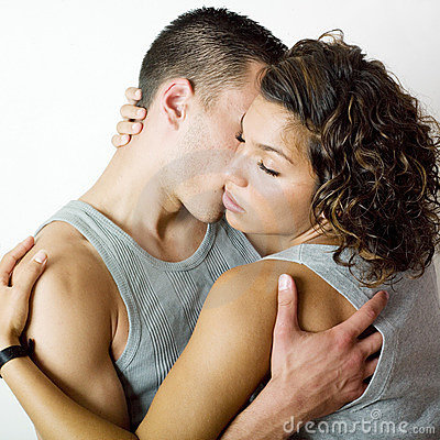 Young couple intimacy