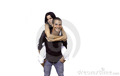 Young couple isolated