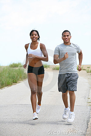 Young Couple Jogging Outdoor