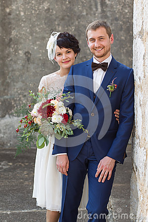 Free Young Couple Just Married People Stock Image - 50155591
