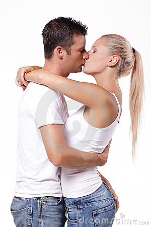 Free Young Couple Kissing Stock Photo - 17455880
