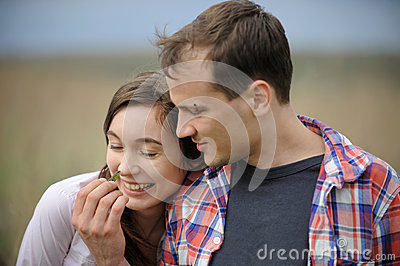 Young Couple with Lizard