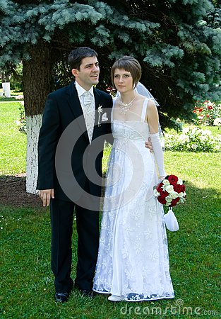 Young couple married