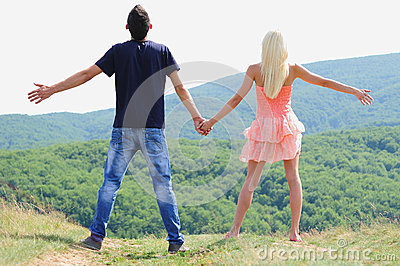 Young Couple In Nature Stock Image - Image: 25801171