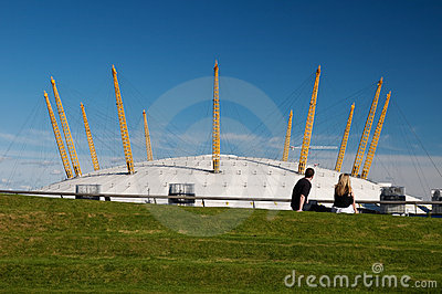 Young couple at the O2 arena. Editorial Image