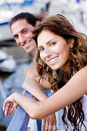 Free Young Couple On A Footbridge Stock Image - 10791481