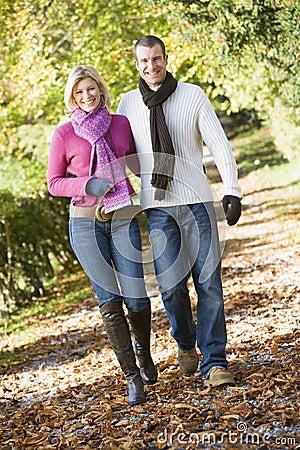 Free Young Couple On Autumn Walk Stock Photo - 5304710
