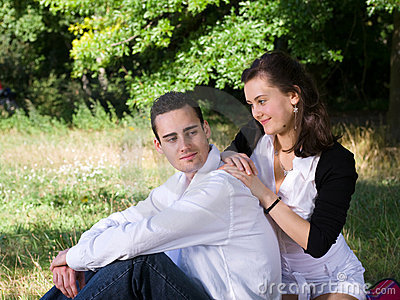 Young couple at park