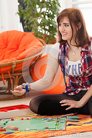 Free Young Couple Playing A Game Stock Photo - 30956830