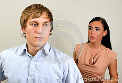 Young Couple Quarreling. Royalty Free Stock Photography - Image: 27648407