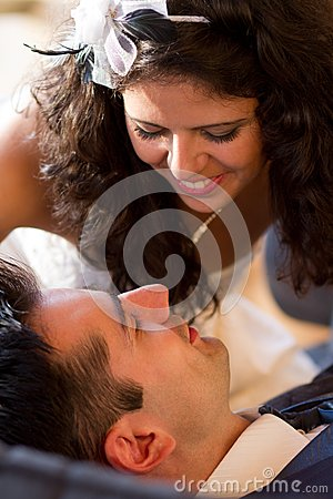 Young couple ready for a kiss
