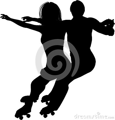 Free Young Couple Roller Skating Royalty Free Stock Photo - 36405175