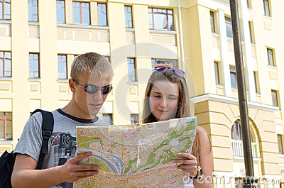 Young Couple Sightseeing On Vacation Stock Photo - Image: 25929230