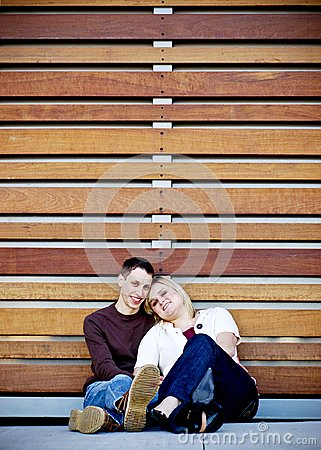 Young Couple in Slats