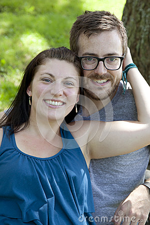 Young couple smiling