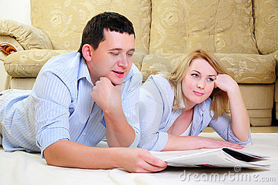 Young couple spends time together