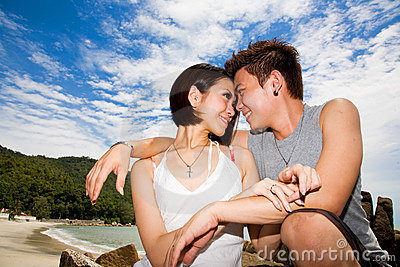 Young couple on vacation