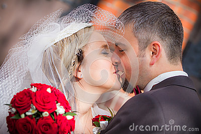 Young Couple After Wedding Ceremony