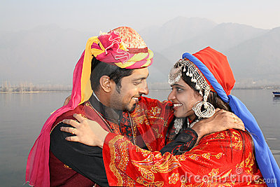 Young Couples in Traditional Indian Dress