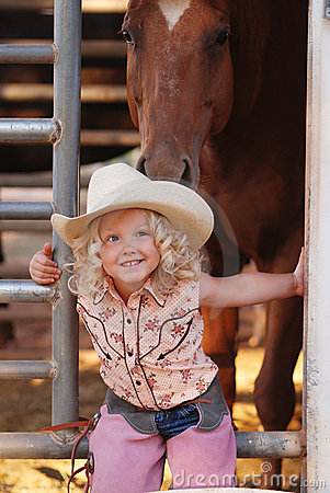 Free Young Cowgirl. Royalty Free Stock Photos - 5775308