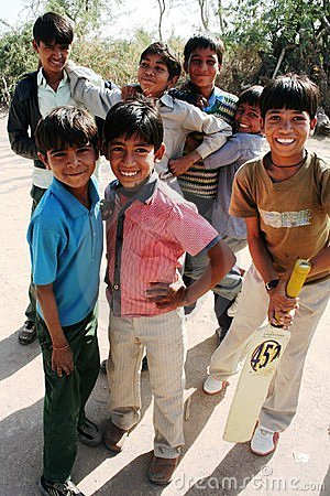 Young cricket team