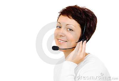Young customer service worker