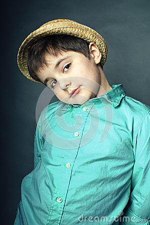 Young cute boy in hat