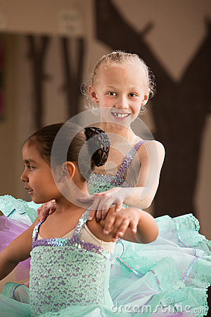Young Dancer Helps Partner