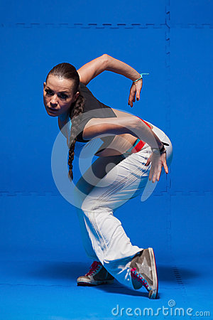 Free Young Dancer In Movement Royalty Free Stock Photo - 38670005