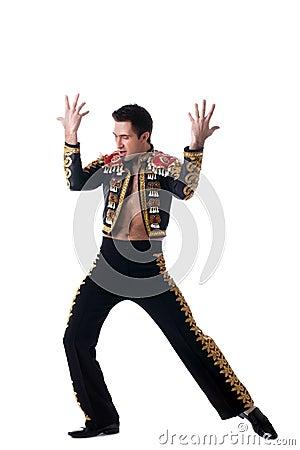 Young dancer in toreador costume