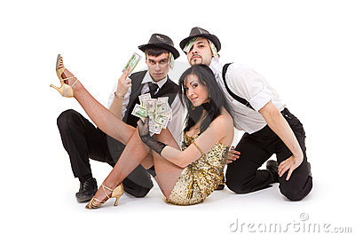 Young dancers posing
