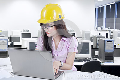 Young designer working on laptop 1